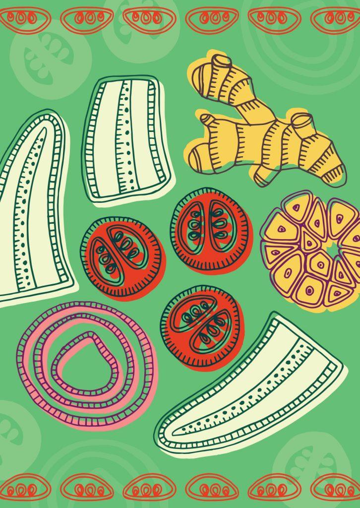 East-African-Food-Ndizi-Illustration-Lulu-Kitololo-726x1024
