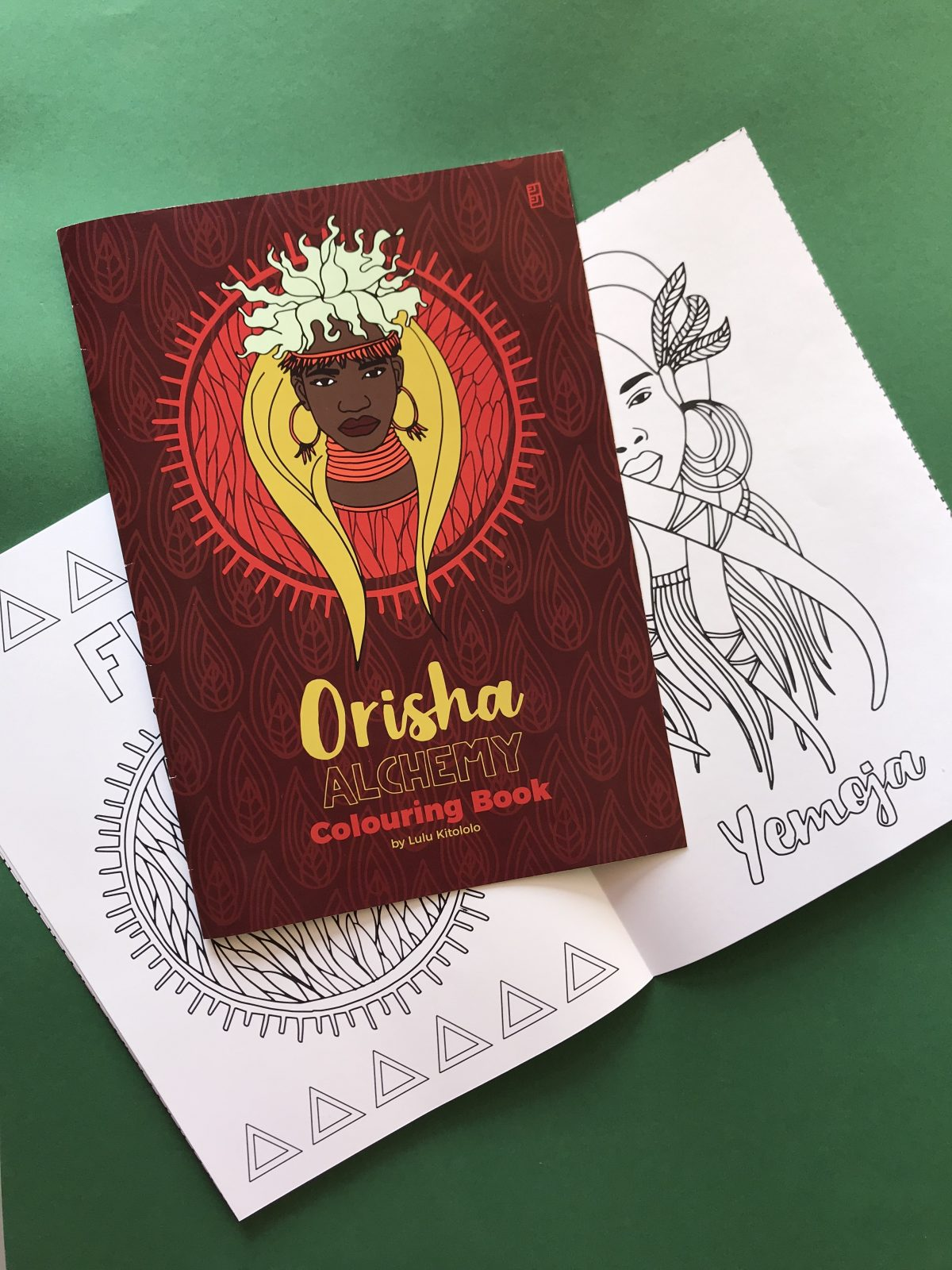 African Goddesses Orisha Alchemy Colouring Book Open